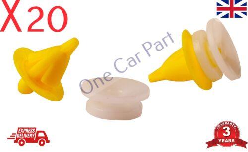20 x Clips Garniture Panneau de fixation pour Renault Clio Laguna Scenic Master Megane 19