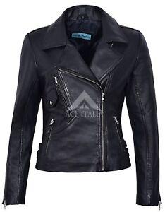 motard 2588 cuir en style Napa style Veste pour italienne biker femmes noir PzCq55xw