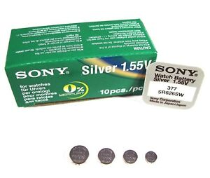 6bdc1f6e6e SONY Watch Batteries ( Any Size ) Silver Oxide Mercury free Hg0% Top ...