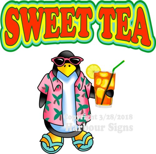 Sweet Tea DECAL Food Truck Concession Vinyl Sticker Choose Your Size