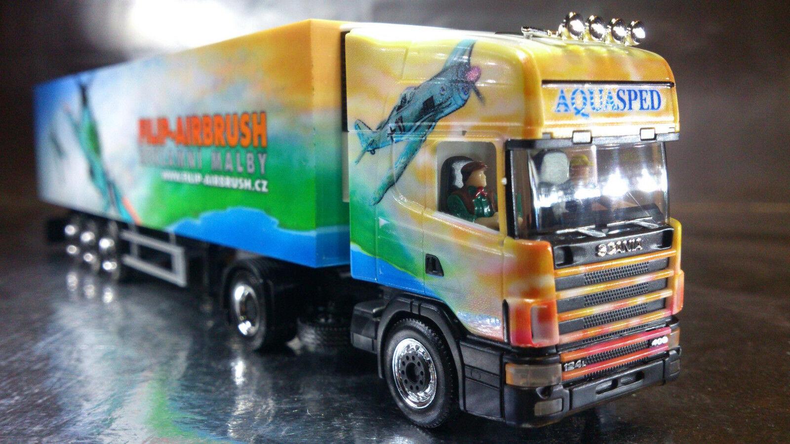 Herpa 120982 Scania TL Réfrigéré Boîte remorque Aquasped Fili 1 87 HO