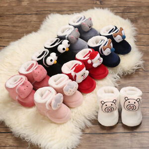 Baby Boys Girls Boots Newborn Soft Insole Socks Infant Toddler Crib Winter Shoes