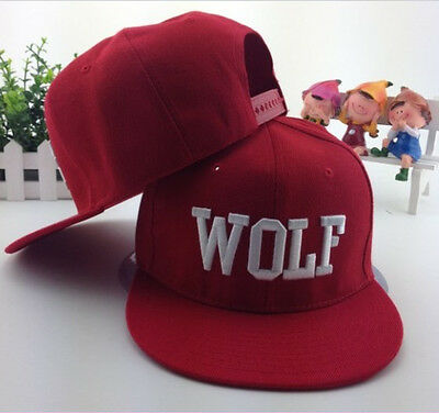 Fascinating WOLF EXO XOXO First Year Embroidered Snapback Cap Hat LAUS