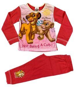 Girls Kids Lion King Pyjamas Size Age 18 Months to 5 Years Official Disney PJ