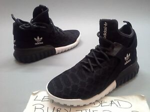 quality design c0110 d3537 Details about New Adidas Tubular X Primeknit Black White B25591 Mesh High