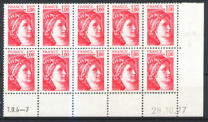 FRANCE1972c  COIN DATE 28/10/77 SABINE, neufs xx LUXE.SANS PH. Cote 50€+