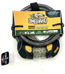 OnGuard-Terrier-Combo-4-039-x-10mm-Resettable-Bicycle-Cable-Lock