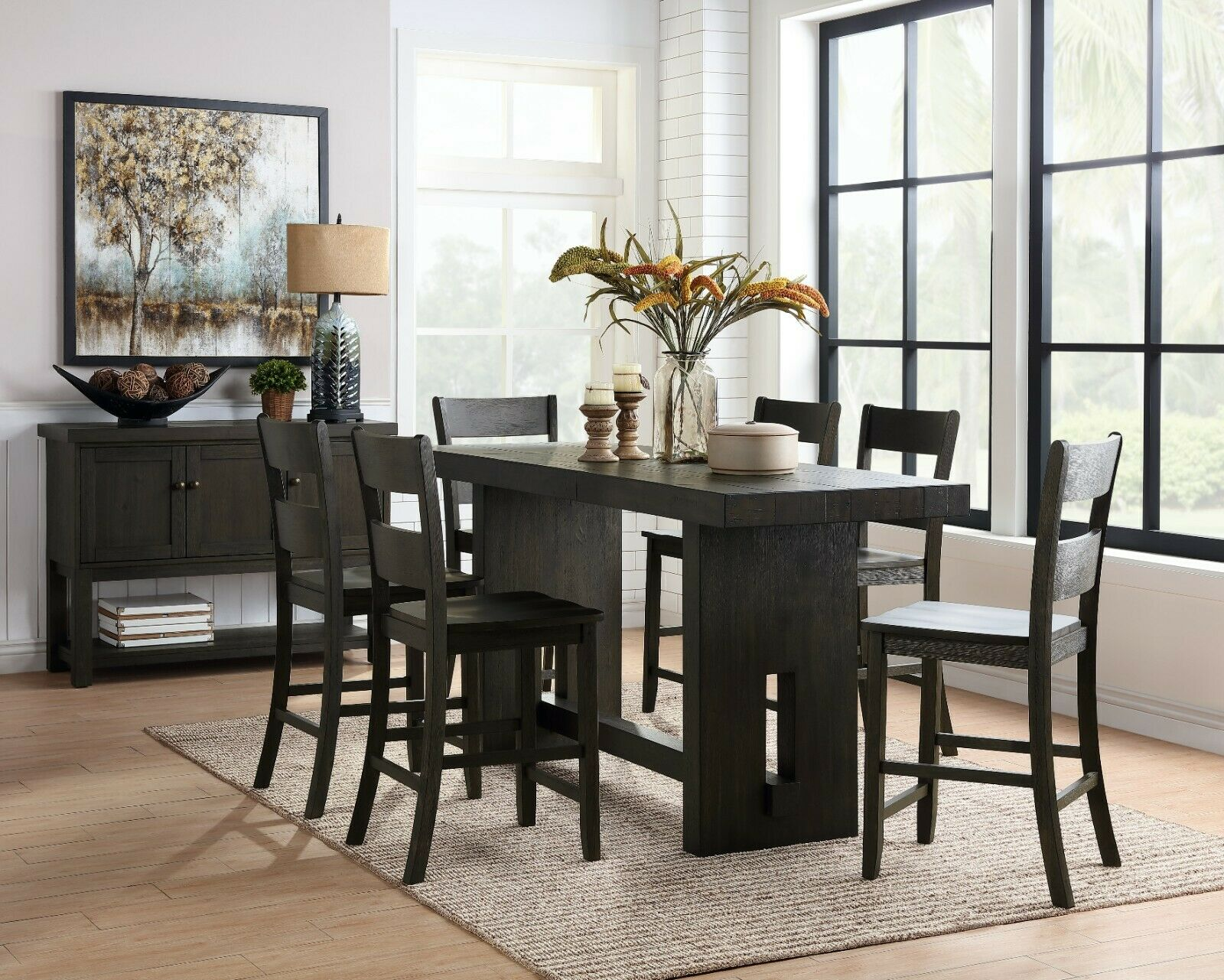 Brayden Studio Hillcrest 7 Piece Counter Height Extendable Dining Set For Sale Online Ebay