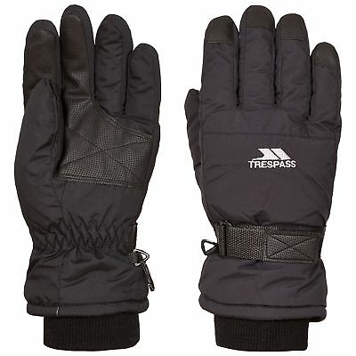 Trespass Gohan II Black Mens Ski Gloves Snowboarding Winter Womens Gloves