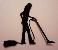 12 x LADY DONNA CLEANER PULIZIA HOOVER SILHOUETTE muoiono tagli qualità Nero CARD