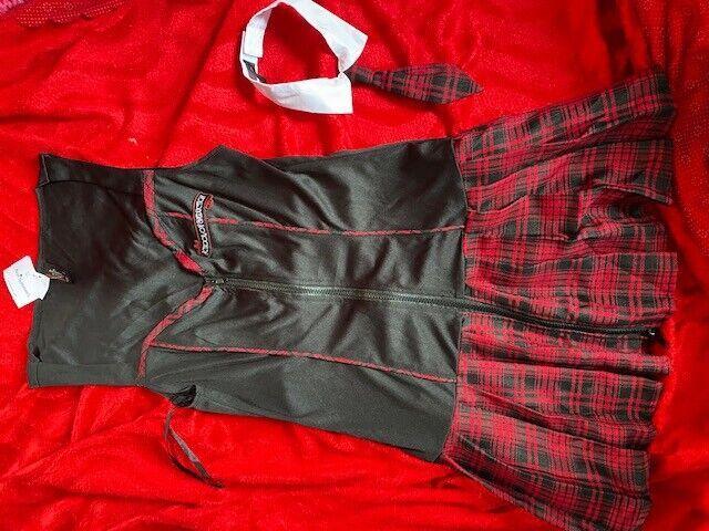 ANN SUMMERS SCHOOL OF SEDUCTION SCHOOLGIRL FANCY DRESS COSTUME SIZE 10 NWT