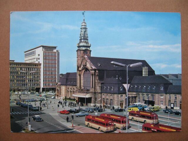 AK Luxembourg gare centrale Hauptbahnhof Bahnhof Autos und Busse Luxemburg