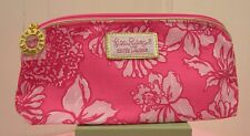 Lilly Pulitzer for Estee Lauder PINK FLORAL Cosmetic MakeUp Bag New
