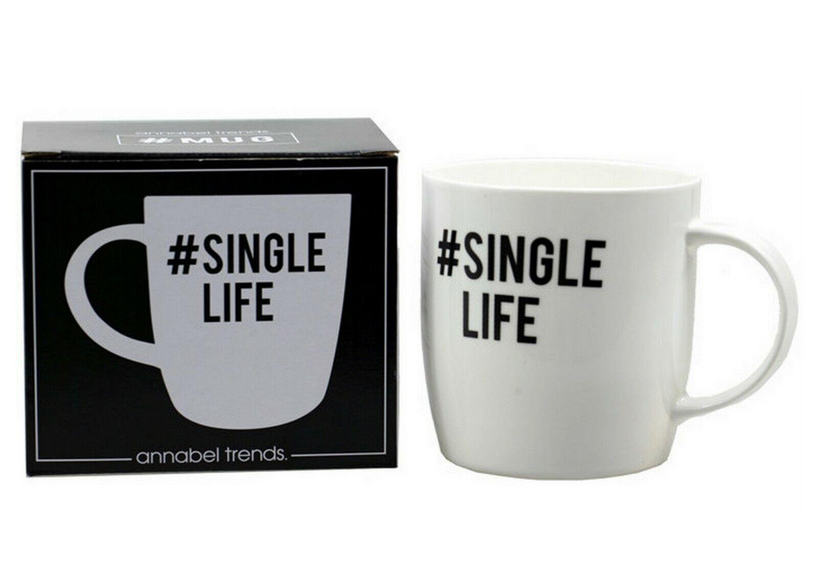SINGLE LIFE COFFEE MUG SINGLELIFE TEA HOT CHOCOLATE DRINK CUP HIPSTER GIFT