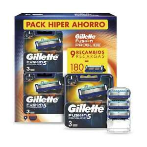 Gillette-Fusion-5-ProGlide-9-uds-Recambios-Maquinilla-de-Afeitar-180-afeitados