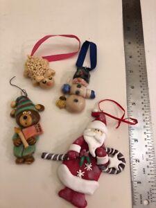 Unique Christmas Ornaments.Details About Baked Clay Unique Christmas Tree Ornaments Set Of 4