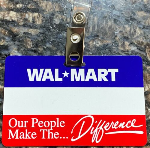 Vintage Wal-Mart Employee Name Badge and clip ~ Name Tags~