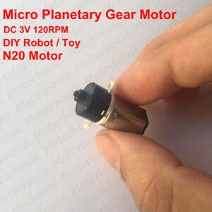 10mm DC 3V-6V 120RPM Mini Coreless Planetary Gear Reducer DC Motor DIY Robot Toy
