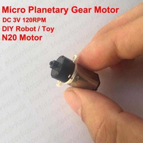 Mini DC 1.5V 3V 120rpm Planetary GearMotor Micro N20 Reducer Motor DIY Robot Toy