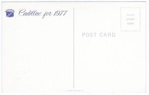 1977 Cadillac 4-DR Sedan Fleetwood Original Dealer Promotional Postcard UNUSED ^