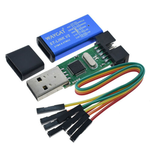 Stable Mini STM8 STM32 Downloader Simulator ST-Link V2 Programmer with Cable