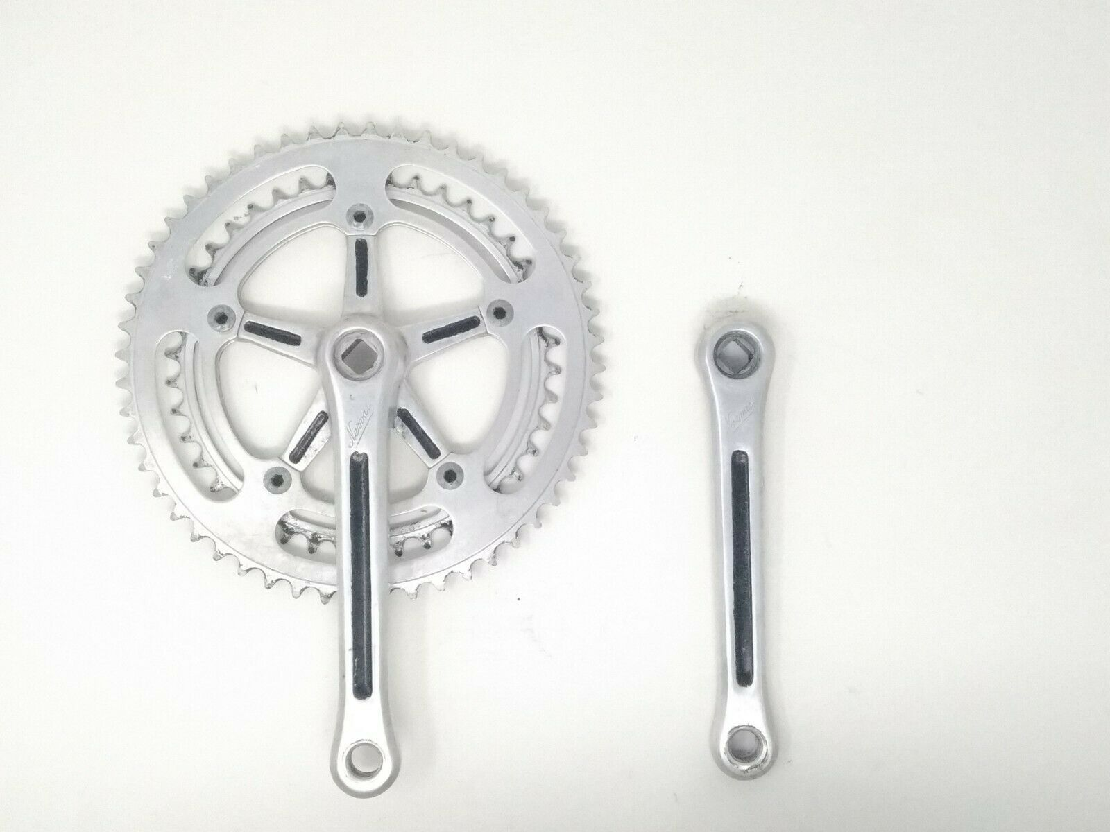 Vintage guarnitura  crankset Nervar BSA 170 42 52  eroica  corsa road bici bike