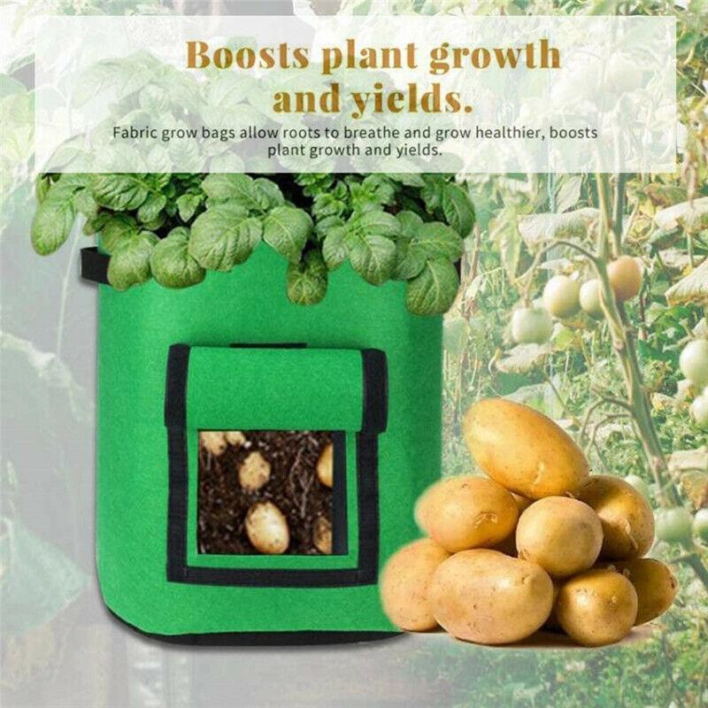 7 Gallon Potato Grow Bags Garden Growing Bag Aeration Fabric Pots for Vegetable