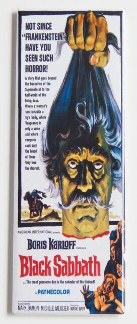 Black Sabbath FRIDGE MAGNET (1.5 x 4.5 inches) insert movie poster boris karloff
