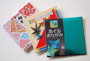 "Origami Paper Combo 3 Pack 130 Sheets 6"" Chiyogami Foil Double Sided Color"