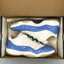 17030439d22 2001 Nike Air Jordan XI 11 Retro Low UNC WHITE COLUMBIA BLUE 136053-141 SZ