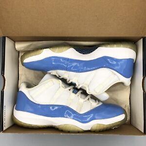 3b6d96fccf8cd9 2001 Nike Air Jordan XI 11 Retro Low UNC WHITE COLUMBIA BLUE 136053 ...