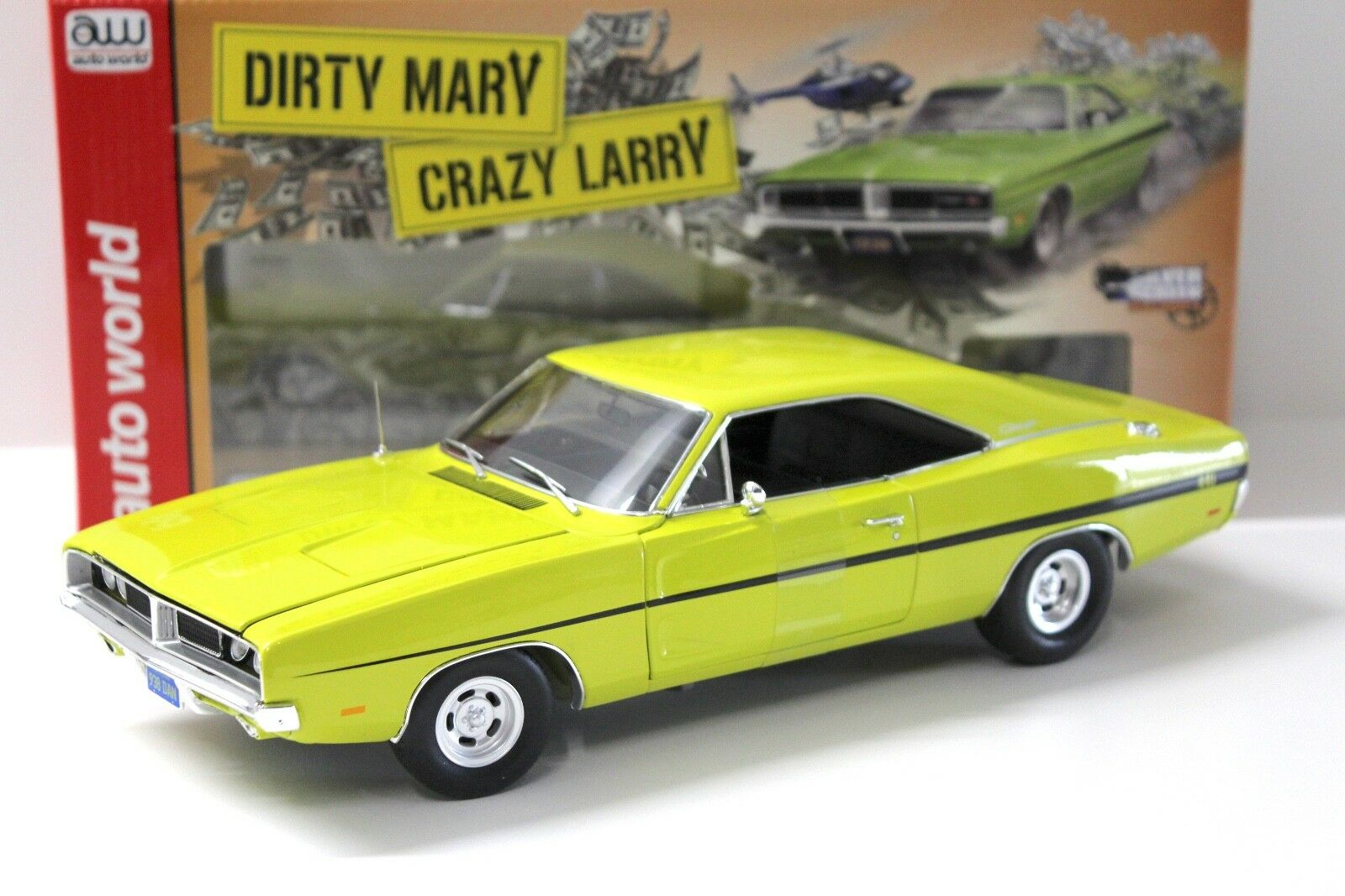1 18 Auto World 1969 Dodge Charger R T  Crazy Larry  New chez Premium-modelcars