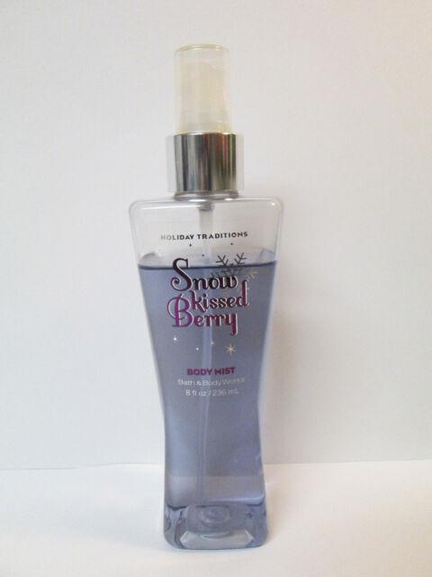 Bath & Body Works SNOW KISSED BERRY Body Mist Spray 8 fl oz Holiday Partial