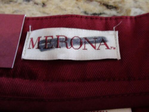 NEW MERONA Culotte Career Capri Pants Red Pleated Front Womens Sizes 2-18