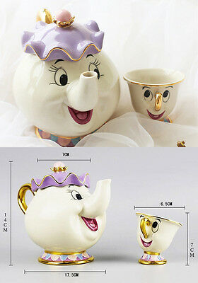 Beauty and The Beast Teapot Mug Mrs Potts Chip Tea Cup -La Bella e la Bestia set