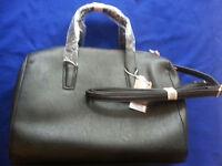 Purse Carpisa Tote Bag Black Handbag, New, Italy Purchase, Roomy, & Coin Purse
