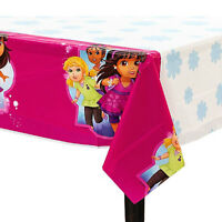 Dora The Explorer And Friends Plastic Table Cover Birthday Party Supplies Pink