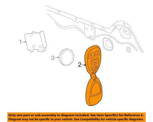 GM OEM Keyless Entry-Key Fob Remote Transmitter 22733523