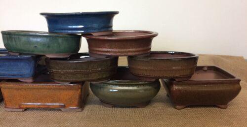 16cm Mixed Bonsai Pots X3