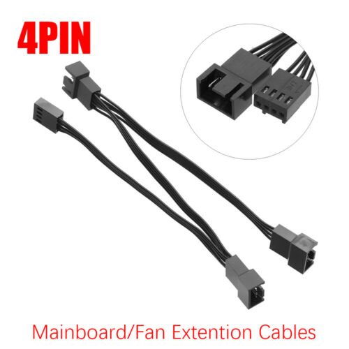 PWM Fan Extension Cables Cooling Cooler Routing 4 PIN Fan Splitter Connectors