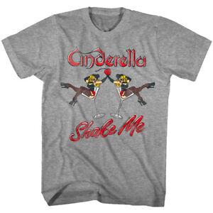 Cendrillon-shake-me-Martini-filles-Homme-T-shirt-Glam-Metal-Rock-Band-Concert-Top