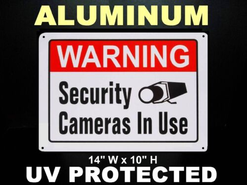 METAL HOME SECURITY ALARM SPY CAMERA SYSTEM IN USE BURGLAR WARNING YARD SIGN LOT