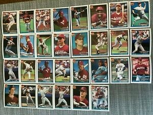 1991-PHILADELPHIA-PHILLIES-Topps-COMPLETE-Baseball-Team-Set-29-Cards-DYKSTRA