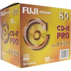 10-x-Fuji-Pro-CD-R-Digital-Audio-Recordable-80Min-In-Jewel-Case