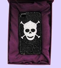 JIMMY CRYSTAL NY iPhone 4 & 4S SKULL Rhinestones Case Msrp $175   *Original Box*