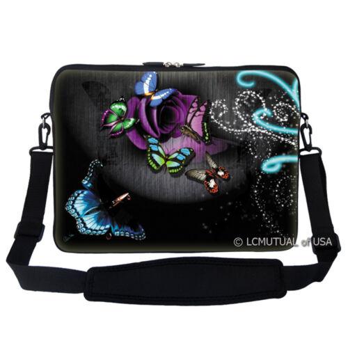 """17.3/"""" Laptop Computer Sleeve Case Bag w Hidden Handle /& Shoulder Strap 2705"""
