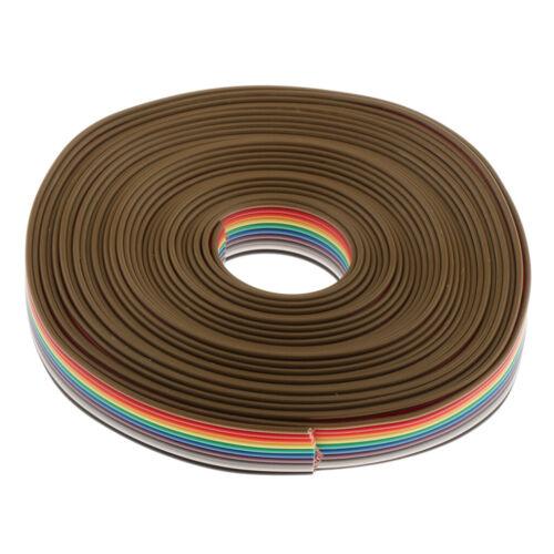 5M 10Pin 1,27 mm Rainbow Color Flachkabel Flachbandkabel Jumper Kabel
