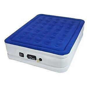 Serta Raised Queen 18 Air Mattress Bed Never Flat Pump Blue St8400 W Bag