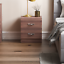 thumbnail 3 - Riano Bedside Cabinet Walnut 2 Drawer Metal Handles Runners Bedroom Furniture