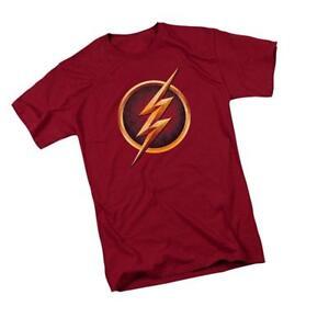 The-Flash-Logo-CW-039-s-TV-Show-Adult-Men-039-s-Graphic-T-Shirt-Tee-Super-Hero-DC-Comics
